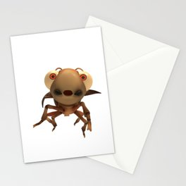 Run Cricket Run - Flying Cricket Stationery Cards