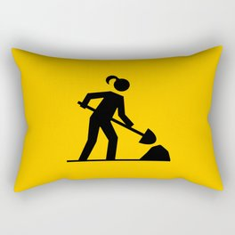 Workwoman Rectangular Pillow