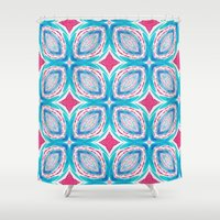 clover Shower Curtains featuring Clover by Truly Juel