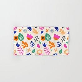 Floral Paper Cutout Collage Pattern Hand & Bath Towel