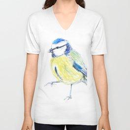 Beautiful Blue Tit Garden Bird Unisex V-Neck