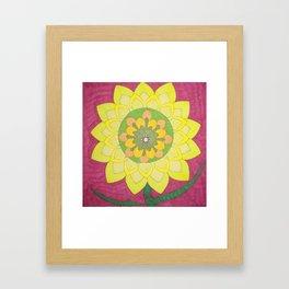 Flower of My Sun Framed Art Print