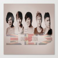 one direction Canvas Prints featuring One Direction by store2u