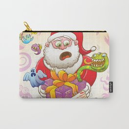 A Christmas Gift from Halloween Creepies to Santa Carry-All Pouch