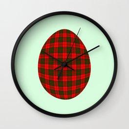Tartan egg Wall Clock