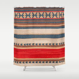N66 - Classic Oriental Moroccan Style Fabric. Shower Curtain