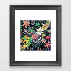 Funky garden Framed Art Print