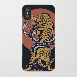 Classic Tattoo Snake vs Tiger iPhone Case