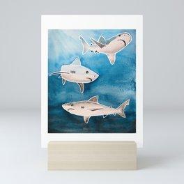 Reef Sharks Mini Art Print