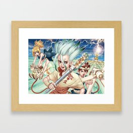 Dr. Stone Poster Framed Art Print