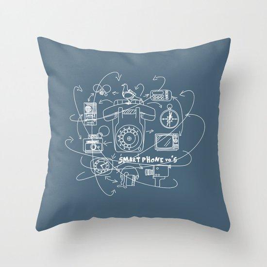 Smartphone 70's Throw Pillow