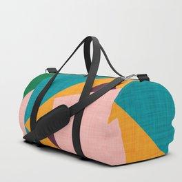 Kilim Flower grey Duffle Bag