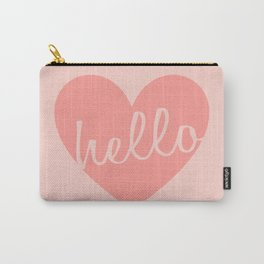 Hello Heart Wall Art #6 Peaches Carry-All Pouch
