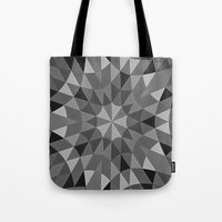 gray pattern Tote Bags featuring Gray Pattern by 2sweet4words Designs