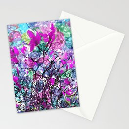 Floral abstract (81) Stationery Cards