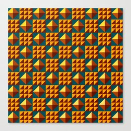 More Pyramid Patterns Canvas Print
