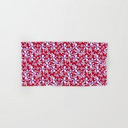 Daisy 3 Red Hand & Bath Towel