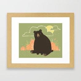 HELLO, BEAR! Framed Art Print