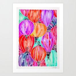 Vietnamese Lanters – Tertiary Palette Art Print