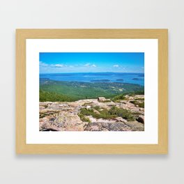 View of Bar Harbor, Maine from Cadillac Mountain (4) Framed Art Print