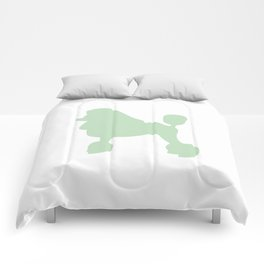 Poodle wall art print Comforters