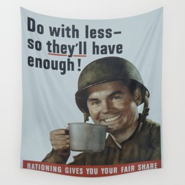 Vintage poster - Rationing Wall Tapestry