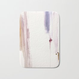 Sugar and Spice [2]: a minimal, pretty abstract piece in pinks, purple, mauve, and tan Bath Mat