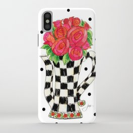 Teapot Roses iPhone Case