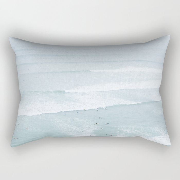 Tiny Surfers from the Sky, Lima, Peru Rectangular Pillow