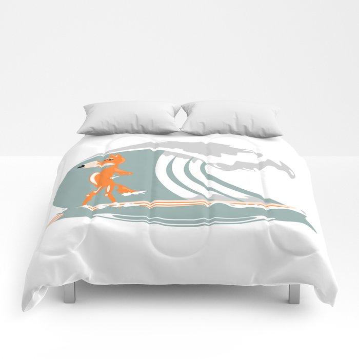 Fox Surfing Comforters