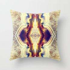 Petrified Flower Throw Pillow
