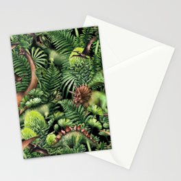 Watercolor Dinosaurs Stationery Cards