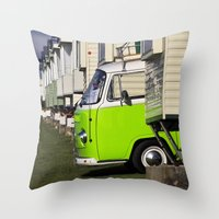 vw bus Throw Pillows featuring Vdub VW Bus by Rainer Steinke