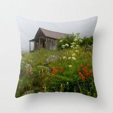 Alpine Cabin, Colorado Throw Pillow