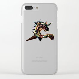 Unicorn fish low poly Clear iPhone Case