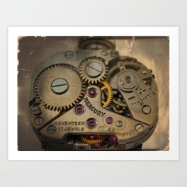 Mechanical Watch Movement - Mercury Art Print