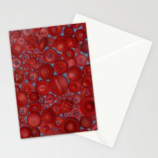 Red Buttons Stationery Cards