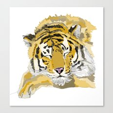 Sleepy Tiger Canvas Print