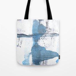 Blue hand-drawn watercolor Tote Bag