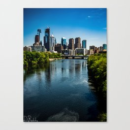 Philly down the River Canvas Print