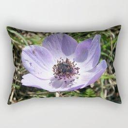 Lilac Blue Anemone Coronaria Wild Flower Rectangular Pillow