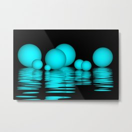 spheres and reflections -103- Metal Print