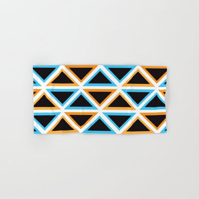 Colorful Triangle (Ranging Tribuj) Hand & Bath Towel