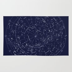 Constellation Map Indigo Rug