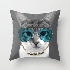 Trust no Bitch Throw Pillow