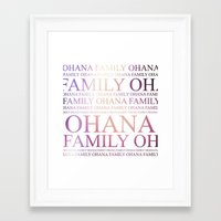 ohana Framed Art Prints featuring Ohana by Indulge My Heart