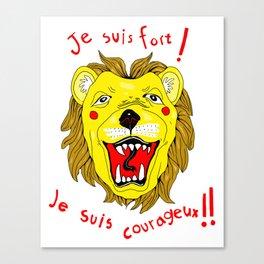 Brave Leo! Canvas Print