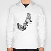 literature Hoodies featuring literature fox 3 by vasodelirium