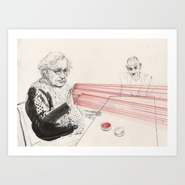 Chomsky can blast it out at will Art Print