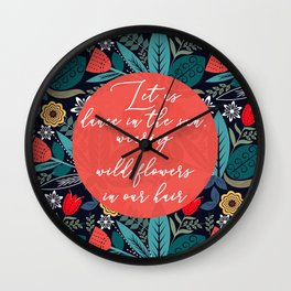 Let Us Dance In The Sun Wall Clock